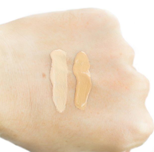 100% percent pure foundation swatches