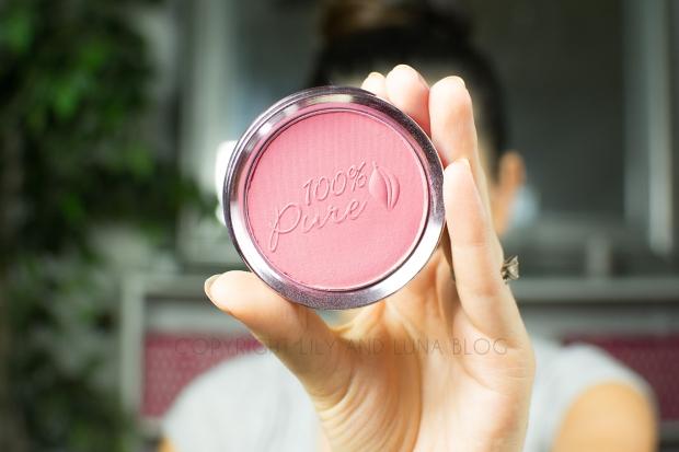 100% Pure Blush in Chiffon Swatch